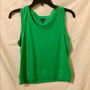 Emerald Sleeveless Sweater Blouse.